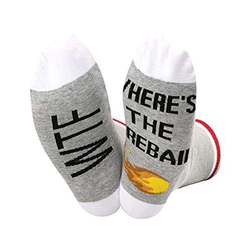 Calcetines de whisky con diseño de bola de fuego WTF Where