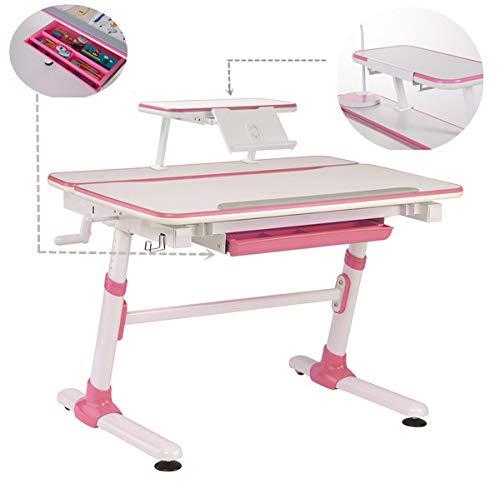 Study Right 1 Meter Kinder Arbeitstisch, Ergonomischer Kinder Arbeitstisch, Kippbarer Schreibtisch, Ausziehbare Schublade, E501 Anzug ab 6 Jahren, Bücherregal, Buchhalter sind Enthalten.