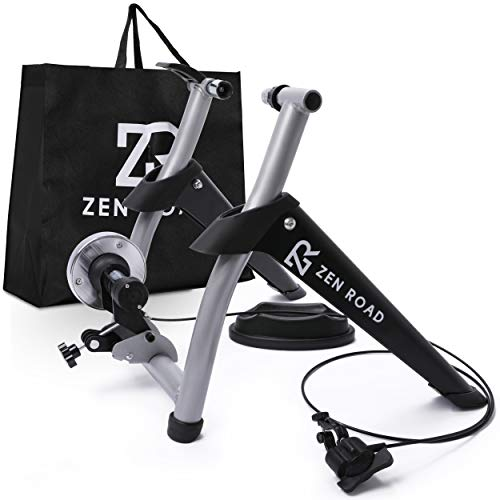 of bike derailleurs dec 2021 theres one clear winner ZenRoad Stationary Bike Trainer Stand - Magnetic Bicycle Trainer Roller with 6-Speed Level Adjustment - Road and Mountain Bike Riding Trainer - Quiet Cycle Holder for Indoor Bike Training Exercise