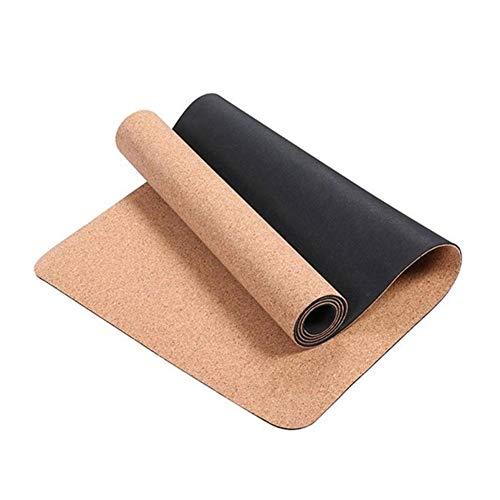 BAWAQAF Esterilla de yoga, TPE Yoga Mat Antideslizante Esterillas de ejercicio, Gimnasio Deportes Slimming Balance Training Pads, Unisex Home Travel Yoga Mat