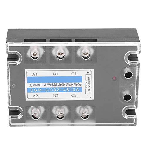 Temporizador de retardo trifásico Relé de tiempo, SSR Control de CC AC 480 V Temporizador de relé de estado sólido Suministros industriales SSR ‑ 3/032‑4810A