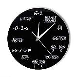 Knncch Números de ingeniería Matemáticas Reloj de Pared Ecuación matemática Reloj Decorativo Pop Quiz Arte de la Pared Ciencia Regalo para matemáticos Frikis y Maestros