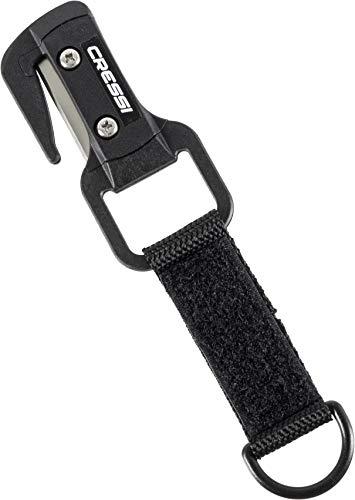 Cressi Unisex-Adult Clean-UP Tool Line Cutter Unterwasser-Schneidwerkzeug, Schwarz/Metallisch, One Size