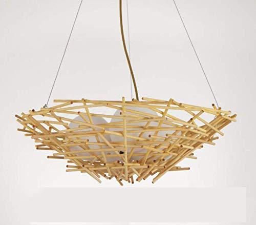 HUAXUE ZHXZHXMY Boutique Lighting - LED de la lámpara, la lámpara Comedor, bambú LED y la lámpara Nido de Pájaro Vine, lámparas, lámpara de bambú, L