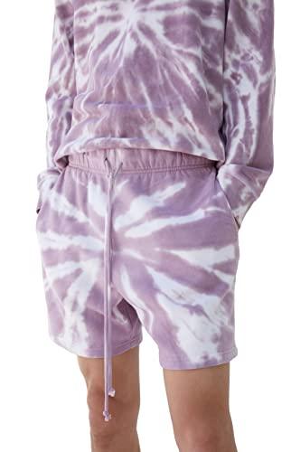 Colour Range Women's Eco Hybrid Washed Sweat Shorts - Purple Size Small