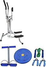 Elliptical Trainer with Fintess Devices for Gaining Muscles and Flexibility