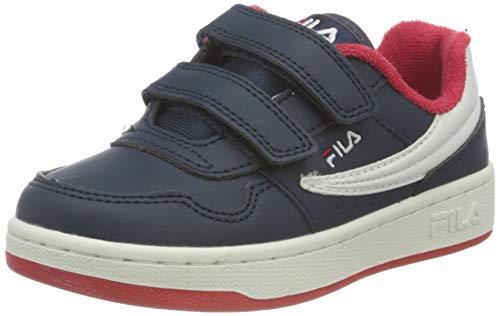 FILA Jungen Unisex Kinder Arcade Infants Sneaker, Navy Red, 22 EU