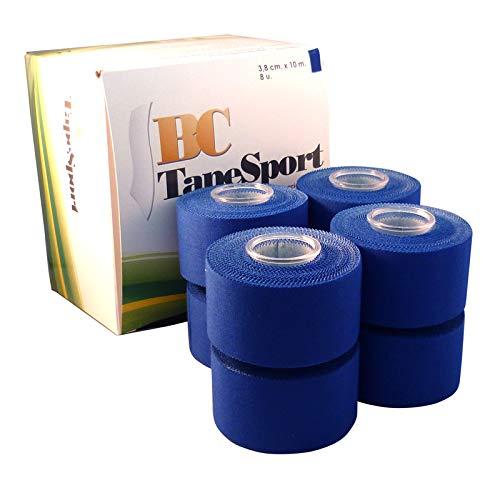 BC Sport Tape Caja de 8 rollos 3,8 cm x 10 m (Azul)