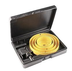 Kraftixx Lochsägen-Set 497990 (Aufbewahrungsbox, mit Aufspanndorn, Sechskant-Schlüssel und Halteplatte, 8-teilig)