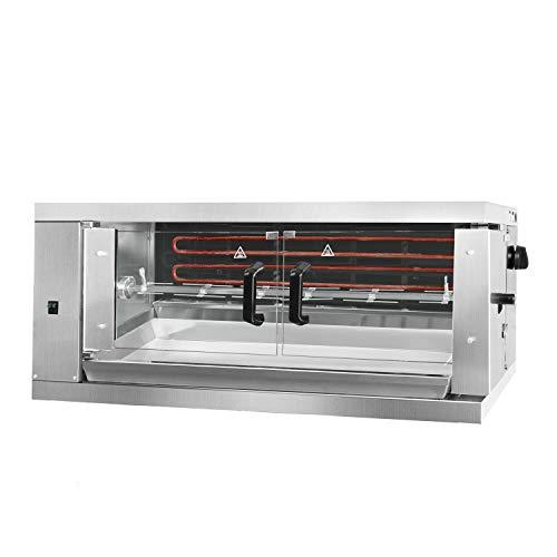 Elektro Hähnchengrill ECO mit 1 Spieß für 6 Hähnchen - 1098 x 480 x 460 mm | Drehgrill | Bratengrill | Rotisserie | Spießbratengrill | Gastro
