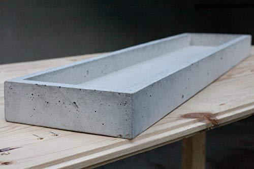 Schale aus Beton | schaleins - BETONIDEE | moderne große Obstschale, Wohn-Küchen-Deko, echte Betonschale 68 cm x 16 cm