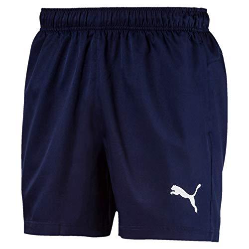 PUMA Active Woven Short 5` Pants, Hombre, Peacoat, L