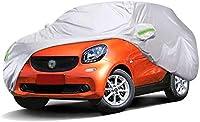 車のカバー ベンツスマートカーカバー防水シートにカバーザ・太陽と雨と車と互換性のカーカバー保護ガレージ車のドアプロテクターカーカバー防水オールウェザー外側カバーカーカバーダストオックスフォード布Wペイント