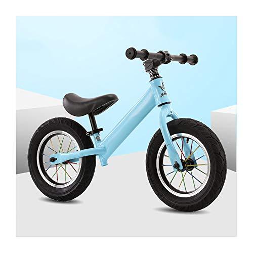CJW-LC 12' Bicicleta Sin Pedales para Niños Bicicleta De Equilibrio, Estructura De Acero con Alto Contenido De Carbono, Asiento Regulables En Altura, para De 2-6 Años Niños,D
