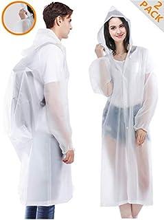HLK.Sports Rain Coats, [2 Pack] EVA Reusable Rain Coat...