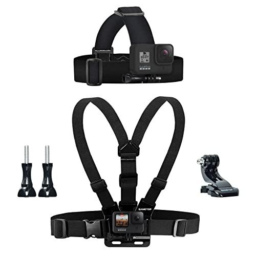 Sametop Arnés para Montaje en el Pecho Chesty + Correa para Montaje en la Cabeza Compatible con cámaras GoPro Hero 9, 8, 7, 6, 5, 4, Session, 3+, 3, 2, 1, Hero (2018), Fusion, dji Osmo Action Cameras
