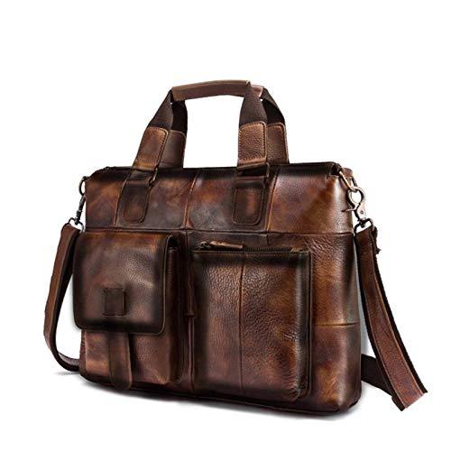 briefcases LRYYCN Men Genuine Leather Office Maletas Business Briefcase Laptop Case Attache Portfolio Bag Maletin Messenger Bag Portfolio Briefcase businessbusiness Briefcase