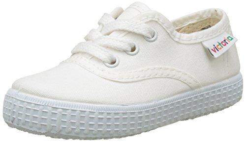 Victoria Inglesa Lona - Zapatillas unisex, color Blanco (White), talla 24 EU