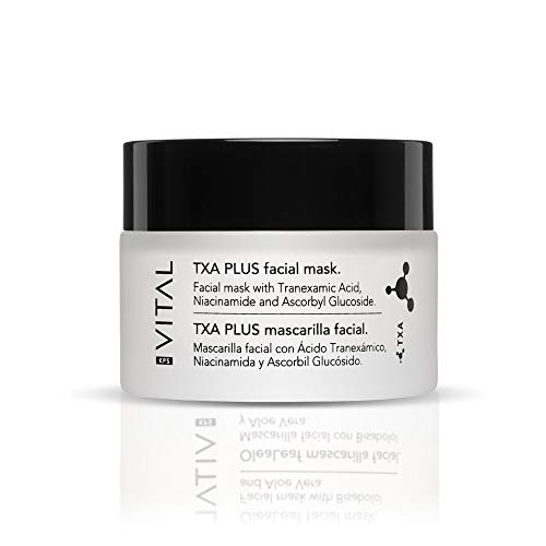 KPS VITAL 【PREMIUM】 TXA PLUS Mascarilla Facial Mujer   Hidratante   Limpiador Puntos Negros   Crema Exfoliante Facial, 50 ml
