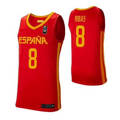 K&A Camiseta PAU Ribas Selección Española de Baloncesto Rojo 2019 para Hombre & Niño (Rojo, Hombre S)