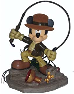 Disney Parks Exclusive Mickey Mouse Indiana Jones Medium Big Fig Figure