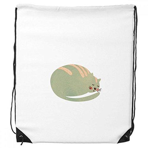 DIYthinker Karikatur-Nette Sleepy Cat Protect-Tier-Haustier-Liebhaber-Rucksack Einkaufssporttaschen Geschenk