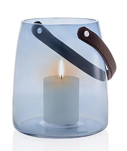 Blomus Windlicht ohne Kerze, M, Glas, blau, 18 x 18 x 20 cm