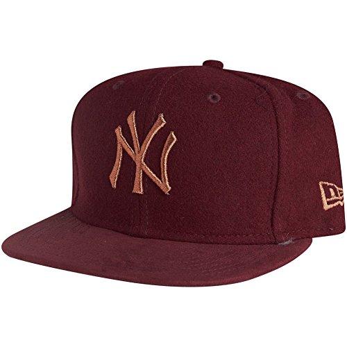 New Era 9Fifty Snapback Cap - MELTON New York Yankees maroon