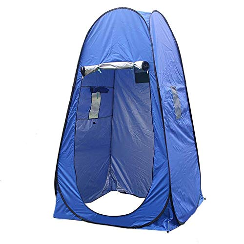 Gnohnay Portable Pop Up Tent, Beach Camp, Camping Toilet Tent, Privacy Shower Tent Portable, for Outdoor, Dressing, Bathing, Toilet, with Carrying Bag,Blue