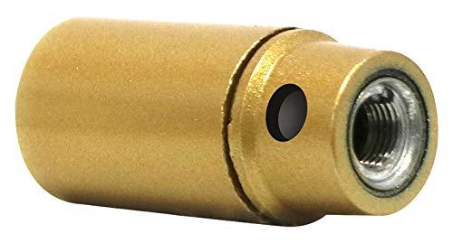 Girard Sudron - Portalámparas E14 liso, casquillo perforado H21 montado, dorado con la tierra
