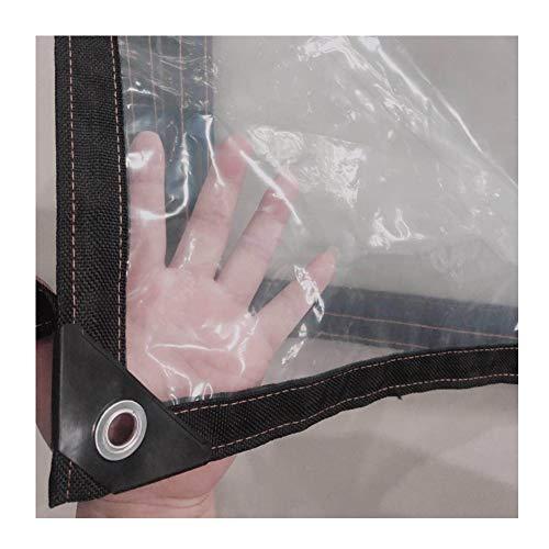 GDMING Trasparente Telone Telo Copertura Teloni Occhiellato Pesante Impermeabile Resistente agli Agenti Atmosferici Inverno Antigelo PVC Film Morbido Ripstop, 41 Taglie (Color : Clear, Size : 4X4M)