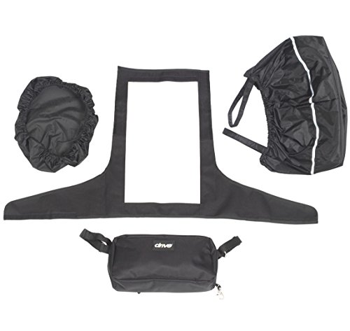 Paquete de accesorios médicos de Drive para scooters de movilidad – Cubierta de timón, forro de cesta y tapa más bolsa pequeña
