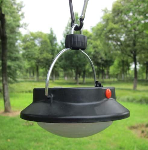 Shoplifemore Luces solares de camping, lámpara solar recargable impermeable, linterna de camping de 60 ledes, gran lámpara para senderismo, camping, patio, paraguas, coche y cortes (2 unidades)