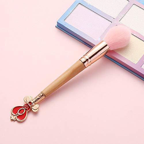 Sailor Moon Sakura Poignée En Bois Pinceau De Maquillage Ombre À Paupières Haute Lumineux Blush Masque Fondation Pinceau Variété Set Outil