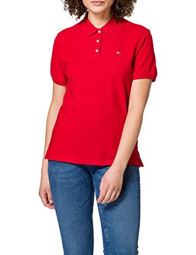 Tommy Hilfiger Tjw Slim Polo Camiseta, Rojo (Deep Crimson), M para Mujer