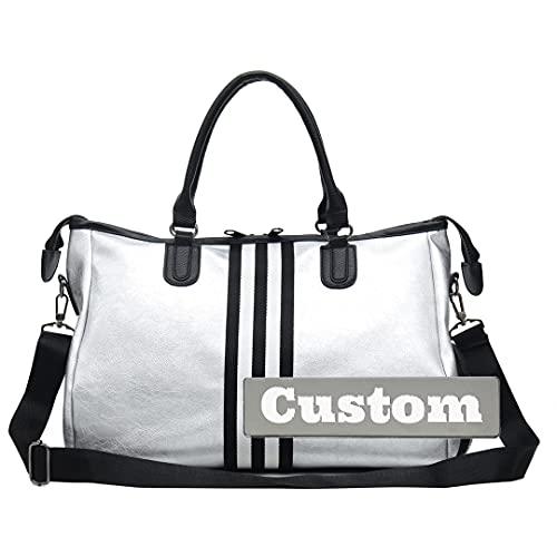 FireH Nome personalizzato Personalizzato Grande borsa da palestra Borsa da donna Scomparto Delle Donne Duffel Gym Shoe (Color : Heise-xiao, Size : One size)