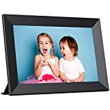 Digital Photo Frame WiFi 10.1 inch, IPS Touch Screen Smart Cloud Picture Frame, 16GB Storage, Auto-Rotate, Easy Setup, Share Photos and Videos via Frameo App at Anywhere, Black