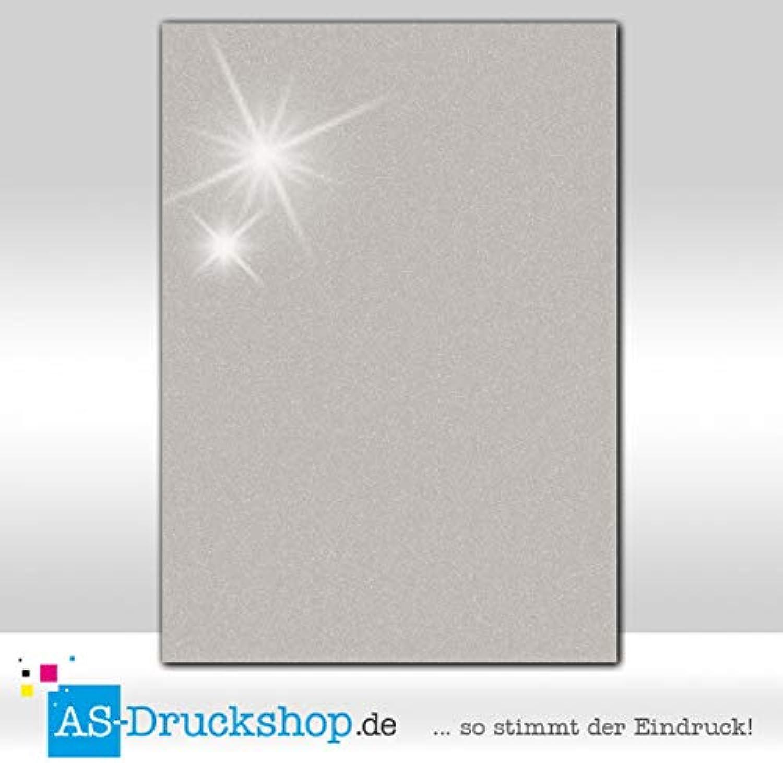 Farbiges Papier - Silber - mit Perlmutt-Glanz   50 Blatt DIN A4   250 g-Papier B07GFRFCF9 | Elegant