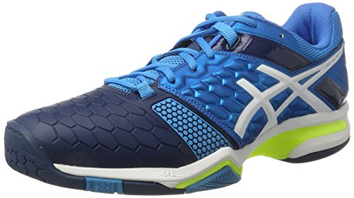 ASICS Herren Gel-Blast 7 Handballschuhe, Blau (Blue Jewel/White/Safety Yellow), 46.5 EU