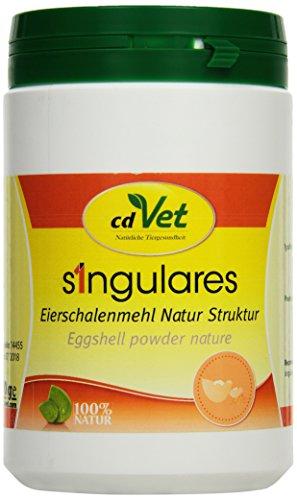 cdVet Naturprodukte Singulares Eierschalenmehl Natur Struktur 1 kg - Hund, Katze - Calciumquelle - bei Rohfütterung+knochenfreier Ernährung - bekömmlich bei Wachstum+Trächtigkeit+Laktation -