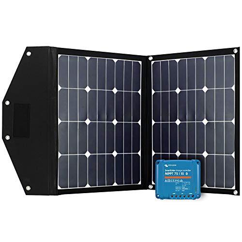 Offgridtec FSP-2 Ultra KIT 80W Faltbares Solarmodul mit Victron MPPT Smartsolar 75/15 Aufständerung integriert