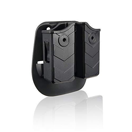 efluky Magazintasche Universal Magazin Holster Pistole Clip Passt für Walther P99/HK/CZ/Glock 17 19/Sig Sauer/9mm Softair Magazin Holster, Paddle 60° Einstellbar