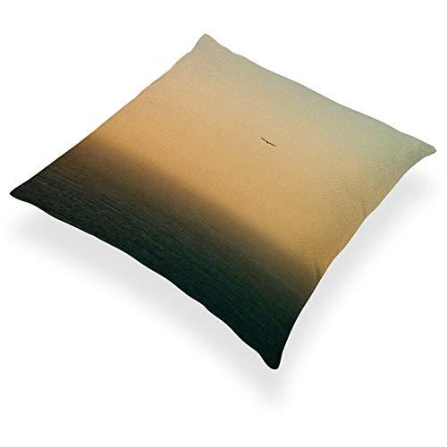 DKE&YMQ Funda de almohada de lino de algodn ligero, individual, atmsfera, vuelo atmosfrico, fenmeno horizonte, viaje areo