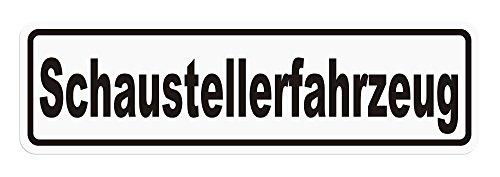 LOHOFOL Magnetschild Schaustellerfahrzeug | Schild magnetisch | Weiss/schwarz, lieferbar in DREI Größen (35 x 10 cm)