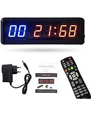 Gamogo Gym Timer Stopwatch met Remote Countdown/Up Clock voor Home Gym Fitness Training Interval Timer Klok met muurbeugels