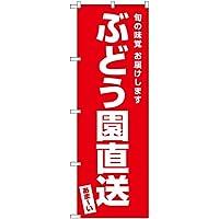 【3枚セット】 のぼり ぶどう園直送 AKB-483 (受注生産)