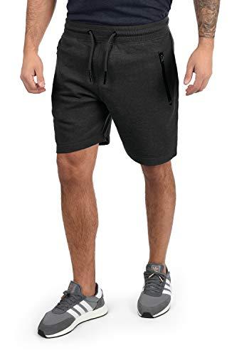 !Solid Taras Herren Sweatshorts Kurze Hose Jogginghose Mit Verschließbaren Eingriffstaschen Und Kordel Regular Fit, Größe:L, Farbe:Dark Grey Melange (8288)