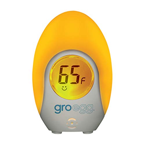 Tommee Tippee Groegg Digital Baby Nursery Room Thermometer with Temperature Color Indicator, Gentle Night Light