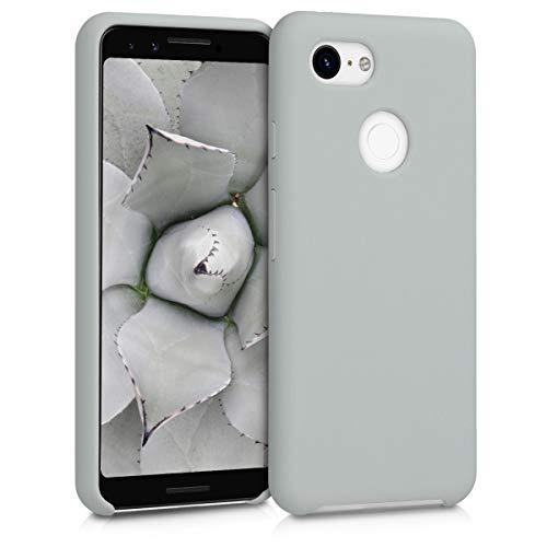 Preisvergleich Produktbild kwmobile Hülle kompatibel mit Google Pixel 3 - Handyhülle gummiert - Handy Case in Hellgrau matt