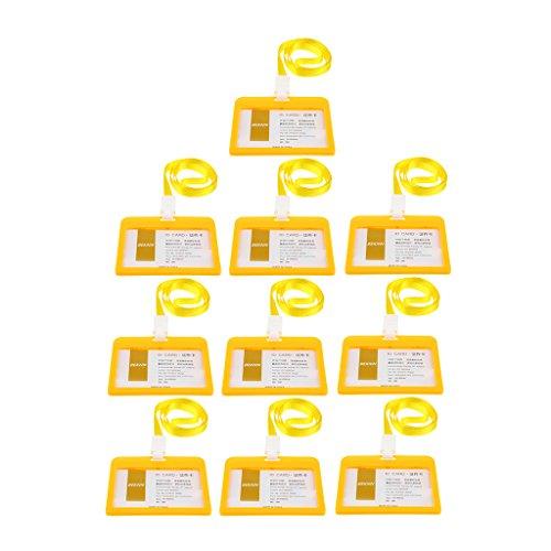 non-brand Carcasa de Tarjeta de Identificación Titular de IDs Producto de Automóvil Cortacésped Jardín Decor - Amarillo